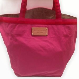KATE SPADE pink foldable beach shopping tote